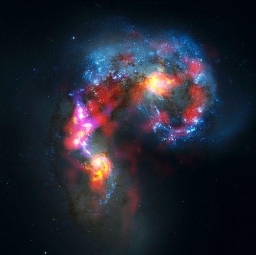 The Antennae Galaxies, images captured by the ALMA Project, Atacama desert, Chile, Oct 3 2011/ALMA, NASA/ESA Hubble Space Telescope, Reuters, Toronto Sun