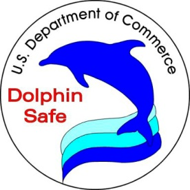 USDC Dolphin Safe tuna label/NOAA, wikipedia.org