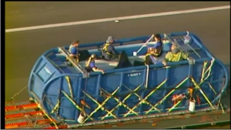 Shouka enroute from Six Flags to SeaWorld San Diego, August 20, 2012/Channel 5 NBC Chicago