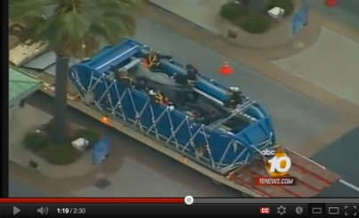 Keet in transport to SeaWorld San Diego, Feb 27, 2011/ABC 10 News, cherokeephil, youtube.com