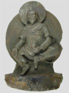Tibetan Buddhist statue, carved from Chinga meteorite, looted by Nazis, now in private hands/Elmar Buchner, sci-news.com