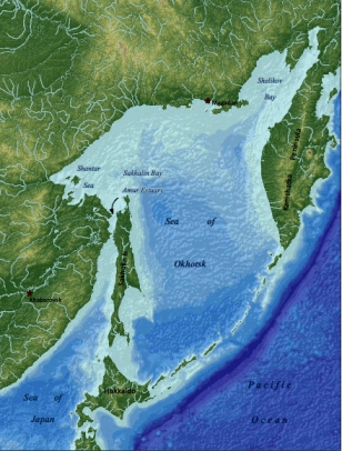 Map of Capture Area in Sea of Okhotsk/Appendix G: The Sea of Okhotsk Marine Environment, Georgia Aquarium Permit Application, June 16, 2012