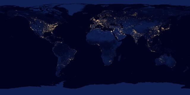 Earth at Night 2012/NASA