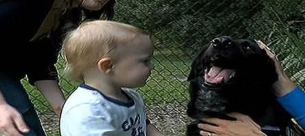Finn Jordan and family dog, Killian, undated/WCSC