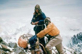 Sir Edmond Hillary & Tensing Norgay ascending Everest, 1953/Alfred Gregory, ABC News Australia