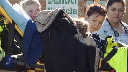 Members of family group found alive in wilderness arrive at Pershing General Hospital, Lovelock, Nevada, Dec 10 2013/James Glover, Reuters, CBS News