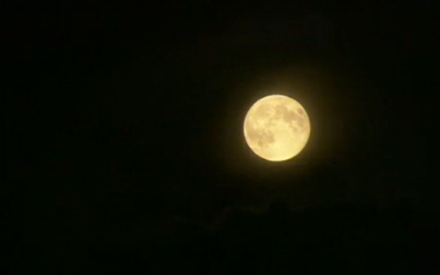 Full moon, still from video/BBC News