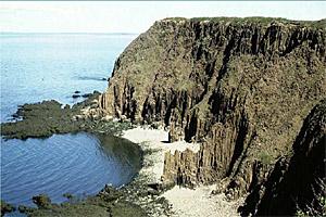 Basalt cliffs formed by volcanic magma, Grand Manan Island, New Brunswick, undated/Greg McHone, CBC News