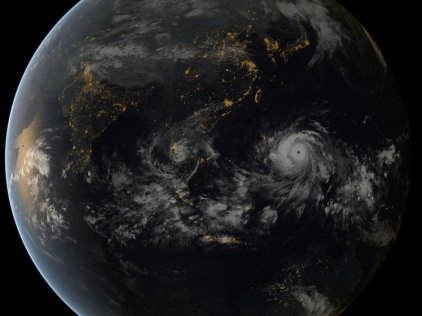 Typhoon Haiyan approaching the Philippines/EUMETSAT, National Post