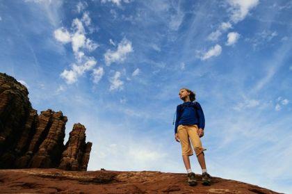 Child in unidentified desert area, undated/John Burchman, National Geographic