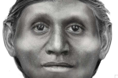 "Artist's rendering of small-statured ""Hobbit Human,"" Homo Floresiensis/Susan Hayes, U of Wollongong, Discovery News"