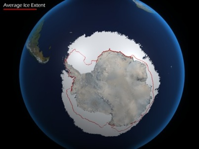 Antarctic Sea Ice, June 21, 2012/NOAA, PBS
