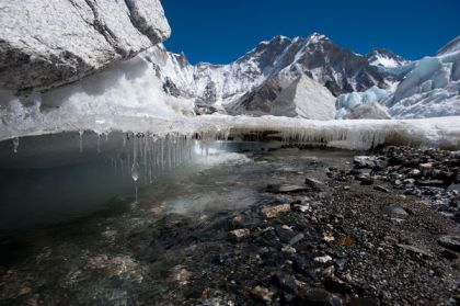 Melting Khumbu Glacier, Nepal, undated/Alex Treadway, National Geographic
