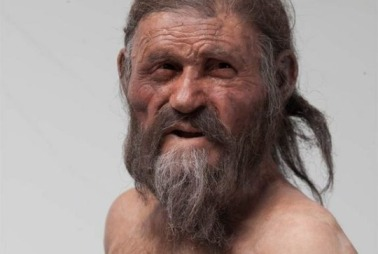 Reconstructed image of Ötzi, the Iceman, found mummified in Italian Alps in 1991/Kennis. South Tyrol Museum of Archaeology, Foto Ochsenreiter. LiveScience