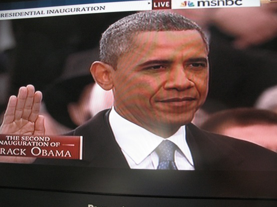 President Barack H. Obama takes the Oath of Office, January 21, 2013/GNN, MSNBC