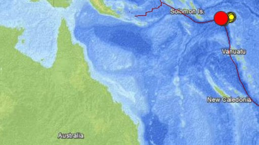 8.0 quake triggers tsunamis, warnings in Solomon Islands, Feb 6, 2013/USGS, The Australian