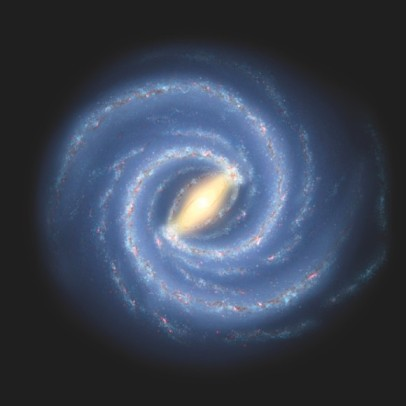 Artist's rendering of Milky Way Galaxy/NASA, JPL-Cal Tech, Earthsky.org