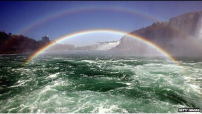 Double rainbow, Niagara Falls, Oct 8, 2006/Don Emmert, AFP, Getty, Wunderground.com