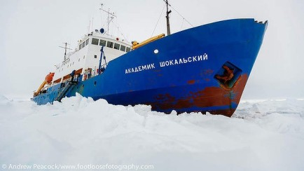 MV Akademik Shokalskiy trapped in ice off Antarctica/Andrew Peacock, footloosephotography.com, The Sydney Morning Herald
