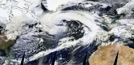 Winter storm spans Atlantic, 3/28/13/NASA, Washington Post