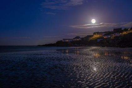 Supermoon over Coverack, Cornwall, England, June 23, 2013/Tim Robinson, National Geographic