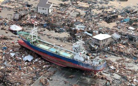 Destruction caused by 2011 tsunami, Kensennuma Miyagi, Japan,2011/Senkei, Getting National Geographic