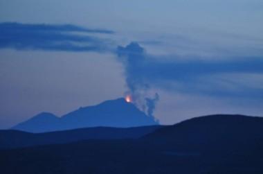 Pavlof Volcano erupting, Alaska, May 14, 2013/Gina Stafford, KTOO