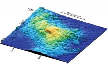 3D image of Tamu Massif underwater volcano/Will Sager, Nature World News