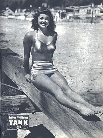 Esther Williams pin-up photo for Yank Magazine, April 23, 1944/Wikimedia starpulse.com