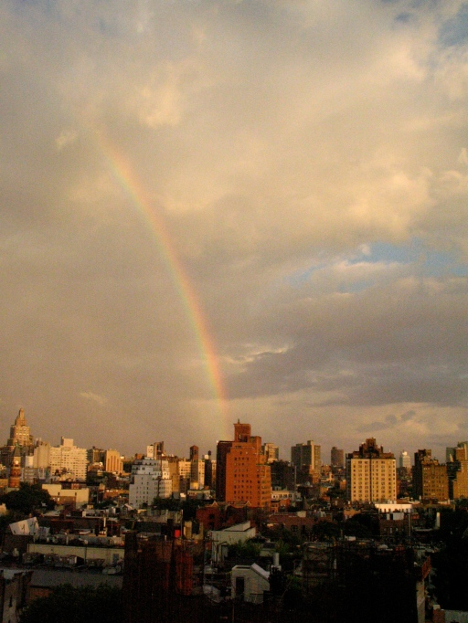Rainbow over lower Manhattan, July 3, 2013/GKWallace, Gini's Nature News