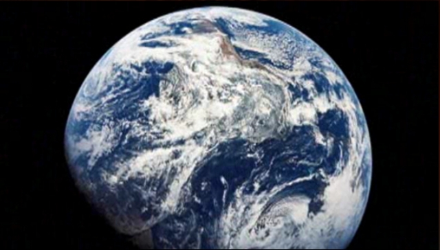 "Our Good Earth, image from NBC Nightly News 12/23/13 report, ""Apollo 8's Genesis Broadcast"""