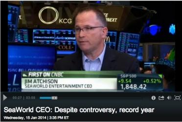 SeaWorld CEO Jim Atchison on CNBC, Jan 15, 2014 / CNBC.com