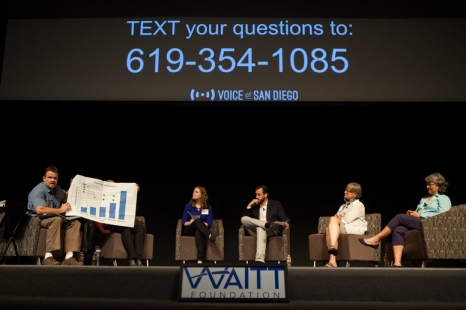 SeaWorld representatives and cetacean advocates debate captivity in discussion hosted by Voice of San Diego at Museum of Contemporary Art, San Diego, June 5, 2014/Sam Hodgson, Voice of San Diego