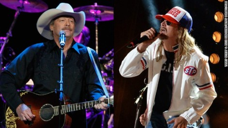 Alan Jackson, Kid Rock, undated/Terry Wyatt, Rick Diamond, Getty, CNN