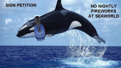 """Stop the Fireworks at SeaWorld San Diego"" petition image/Change.org"