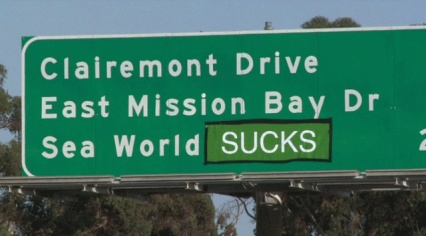 Highway sign, San Diego/Fox 5 San Diego