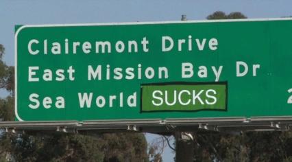 Highway sign, San Diego/Fox 5 San Diego