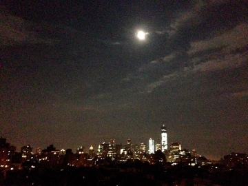Supermoon over Lower Manhattan, July 11, 2014/GKWallace