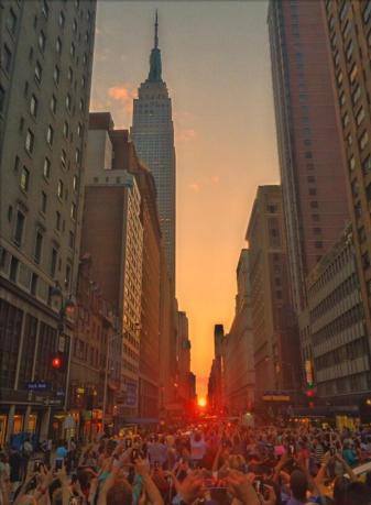 Manhattanhenge from 34th Street, July 11, 2014/Jeffrey Putman, Twitter, NBC News