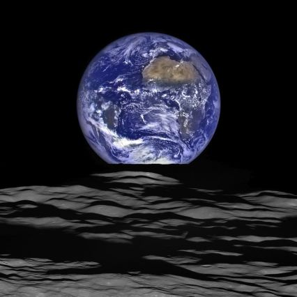 NASA Lunar Reconnaissance Orbiter's composite image of Earth from orbit around moon, December 18, 2015/ NASA, HO, AFP, Getty Images, Chron.com / Click to see more