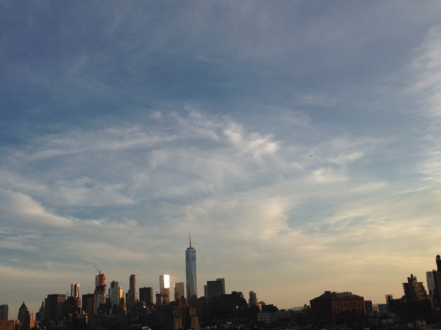 Angel Cloud over Lower Manhattan as The Pope Arrives, September 24, 2015  / GK Wallace / Click to enlarge