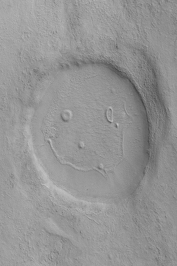 Mars Crater photographed January 28, 2008 by Mars Reconnaissance Orbiter's Context Camera / NASA, JPL-Caltech / MSSS / Click for more.