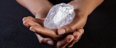 Botswana's Lesedi la Rona (Our Light in Setswana), 2nd-largest diamond ever mined / Donald Bowers, Sothebys, EPA , ABC News / Click to enlarge and learn more.