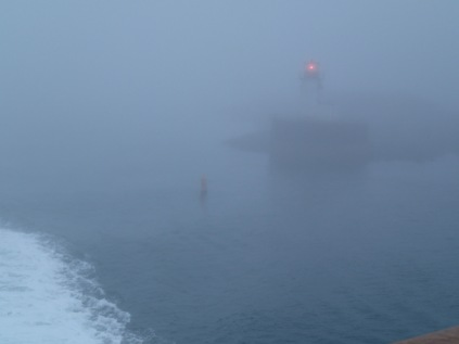 CAT Ferry, leaving Yarmouth NS, 7:30 a.m., 9/19/16