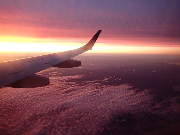 Jet Blue, Portland to JFK, Sunset, 9/20/26