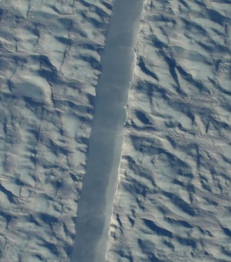 New rift in Petermann Glacier, Greenland / Gary Hoffmann, NASA, The Washington Post / Click for more.