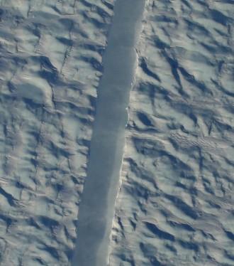 New rift in Petermann Glacier, Greenland / Gary Hoffmann, NASA, The Washington Post / Click for more.