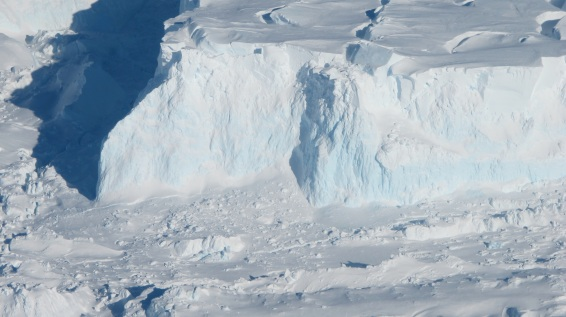 Thwaites Glacier, West Antarctica, undated / James Yungel, NASA / Click for more.