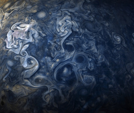 Clouds of Jupiter, Oct 27, 2017 / NASA-JPL-Caltech, SwRI, MSSS, Gerald Eichstädt, Seán Doran / Click for more.