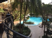 Breakfast overlooking pool, Kigali Serena Hotel